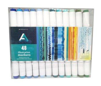Art Alternatives ILLUSTRATION MARKER 48 MARKER Box SET