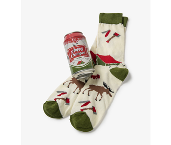 LBH Hoppy Camper Men's Beer Can Socks