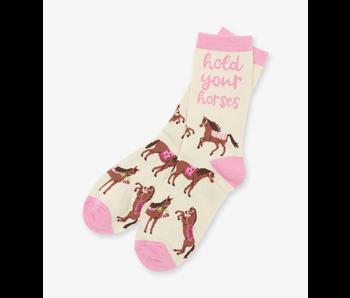 LBH Hold Your Horses Women's Crew Socks