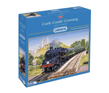 Gibsons Puzzle 500 Piece Corfe Castle Crossing