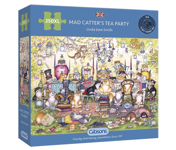 Gibsons Puzzle 250 Piece Mad Catter's Tea Party