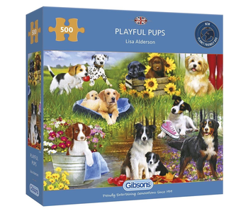 Gibsons Puzzle 500 Piece Playful Pups