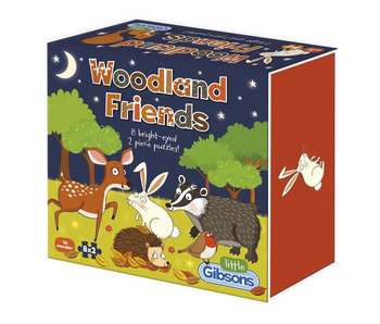 Little Gibsons Puzzle: Woodland friends 8 two-piece puzzles