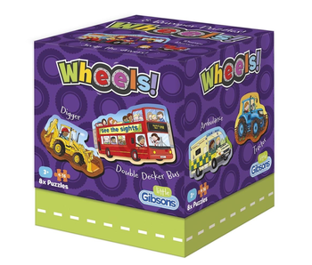 Little Gibsons Puzzle: Wheels! 8 puzzles in one box!