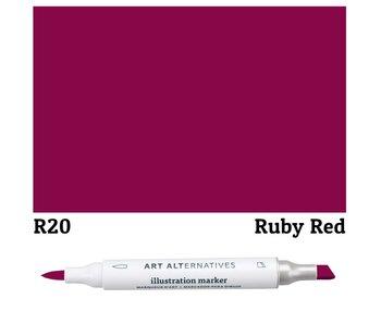 Art Alternatives ILLUSTRATION MARKER RUBY RED