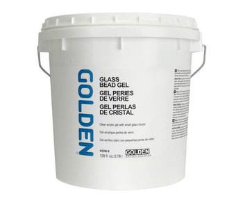 Golden Medium 128Oz Glass Bead Gel for Acrylic Painting