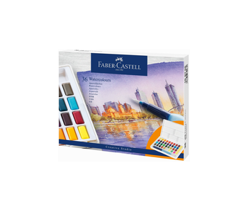 Faber-Castell 36 Watercolour Pan Set With Waterbrush