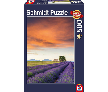 SCHMIDT PUZZLE 500: FIELD OF LAVENDER, PROVENCE