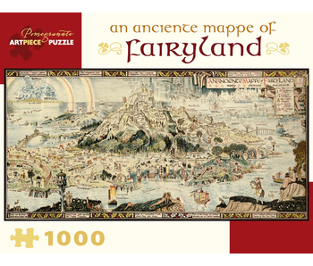 POMEGRANATE ARTPIECE PUZZLE 1000 PIECE: AN ANCIENT MAPPE OF FAIRYLAND