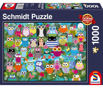Schmidt Puzzle: 1000 Piece Collage of Owls II
