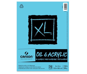 CANSON OIL & ACRYLIC PAPER 136 LB 11 X 14 PAD