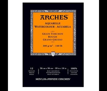ARCHES WATERCOLOUR 12 Sheet PAD 10x14 ROUGH 140LB 12PK