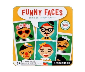 Petitcollage Funny Faces On the Go Magnet Play Set