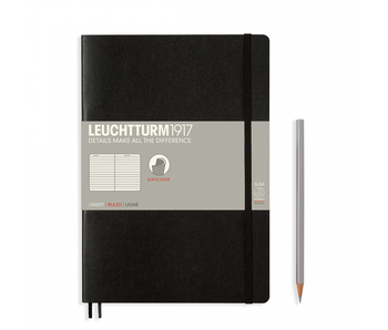 Leuchtturm1917 Soft Cover Notebook Large Ruled Black