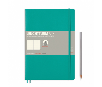 Leuchtturm1917 Soft Cover Notebook Large Dotted Emerald