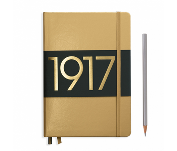 Leuchtturm1917 Notebook Medium Gold Ruled
