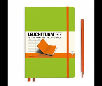 Leuchtturm1917 Notebook Bicolor Lime-Orange Hardcover  Ruled