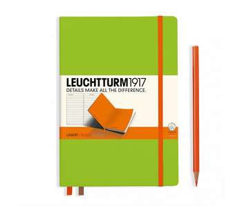 Leuchtturm1917 Notebook Bicolor Lime-Orange Hardcover  Ruled