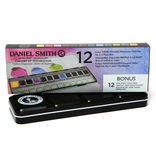 Daniel Smith Watercolors Daniel Smith Watercolour Twelve Colour Hand Poured Set in a Metal Box