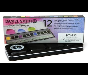 Daniel Smith Watercolour Twelve Colour Hand Poured Set in a Metal Box