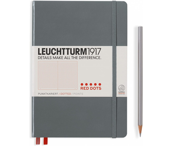 Leuchtturm1917 Notebook Medium Hardcover Red Dots Anthracite