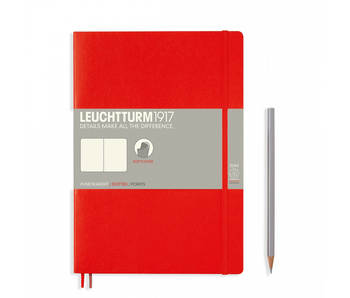 Leuchtturm1917 Soft Cover Notebook Large Dotted Red