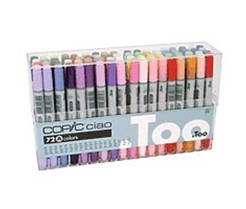 Copic Ciao Marker 72 Colours Set A