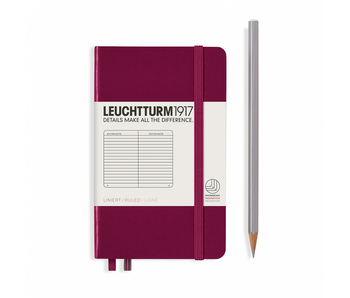 Leuchtturm1917 Notebook Pocket (A6) Port Red Hardcover Ruled