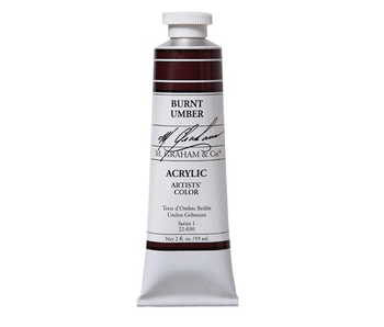 M. GRAHAM ARTISTS ACRYLIC 2OZ BURNT UMBER