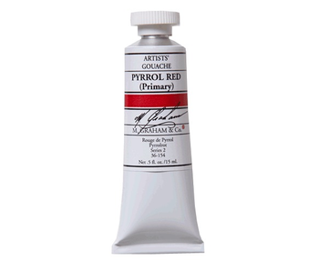 M. GRAHAM ARTISTS' GOUACHE 15ML PYRROL RED (PRIMARY)