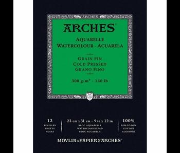 ARCHES WATERCOLOUR PAD 9x12 CP 140LB 12PK
