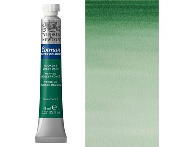 COTMAN WATERCOLOUR 8ML HOOKERS GREEN DARK