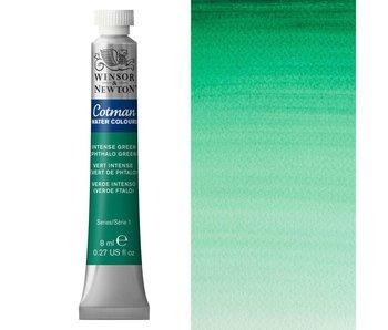 COTMAN WATERCOLOUR 8ML INTENSE GREEN PHTHALO