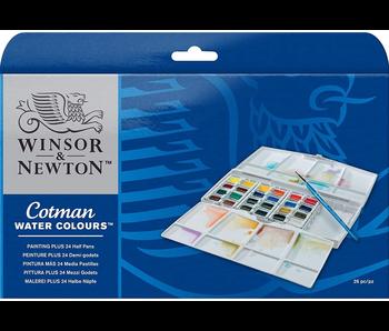 Winsor & Newton Cotman Watercolors 24 Half Pan