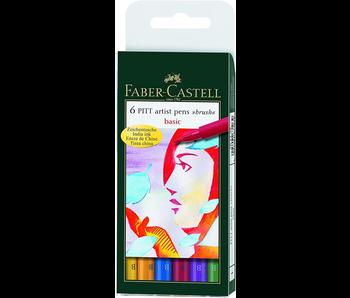 FABER CASTELL PITT PEN 6 SET BASIC
