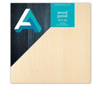 Art Alternatives Wood Panel 3/4 inch Cradled Studio Profile 10X10