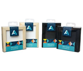 ART ALTERNATIVES MINI CANVAS & FRAME SET BLACK 3x3