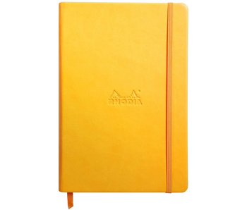 RHODIA RHODIARAMA NOTEBOOK 3.5x5.5 YELLOW BLANK