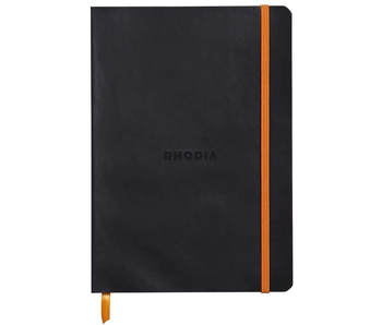 RHODIA RHODIARAMA NOTEBOOK 5.5x8.3 BLACK DOT GRID Softcover