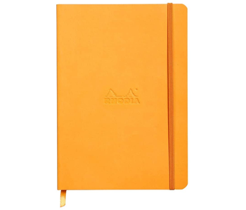 RHODIA RHODIARAMA NOTEBOOK 5.5x8.3 ORANGE LINED