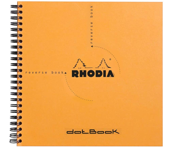 Rhodia REVERSE BOOK Dot 8.25x8.25 Orange