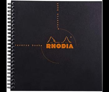 Rhodia Reverse Book Graph Paper 8x8 Orange Or Black