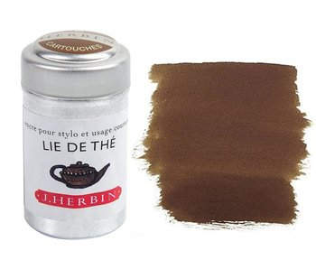 J. HERBIN INK CARTRIDGE 6PK LIE DE THE TEA LEAVES