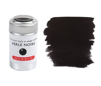J. HERBIN INK CARTRIDGE 6PK PERLE NOIR