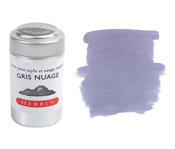 J. HERBIN INK CARTRIDGE 6PK GRIS NUAGE CLOUD GREY