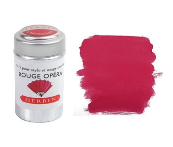 J. HERBIN INK CARTRIDGE 6PK ROUGE OPERA RED