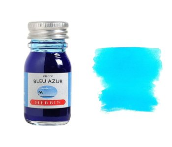 J. HERBIN FOUNTAIN PEN INK 10ML BLEU AZURE/AZURE