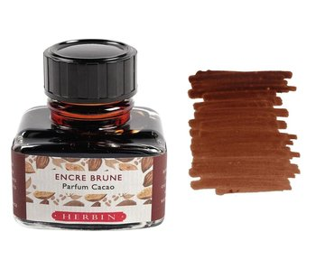 J. HERBIN SCENTED FOUNTAIN PEN INK 30ML CACAO