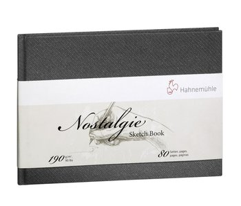 Nostalgie Hard Cover Sketch 40 sheet/80 page book, landscape 5.8X8.3