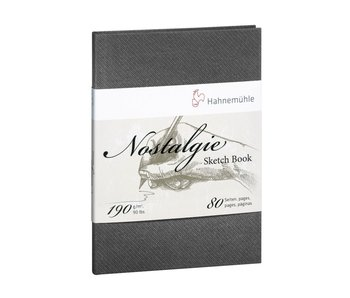 "Nostalgie Hard Cover Sketch 40 sheet/80 page book, portrait 4.13 x 5.83"""